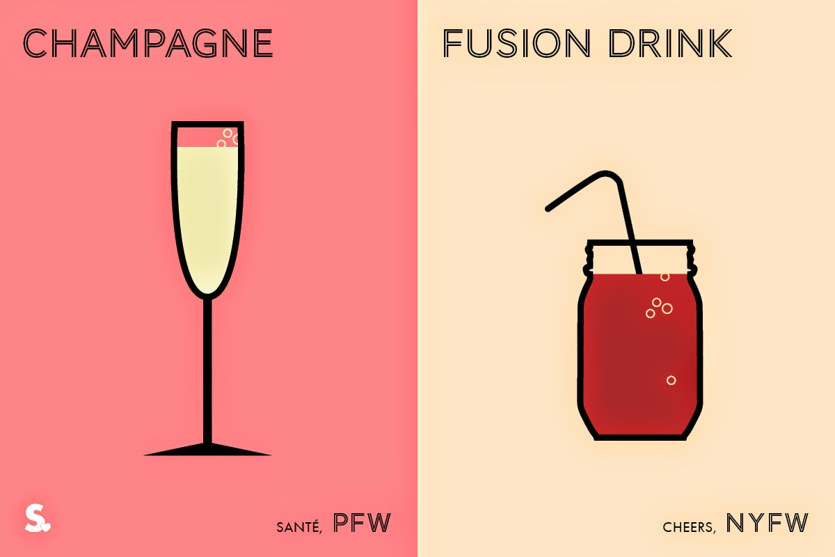 Image of Image of Paris VS New York Fashion Week Infographic Last