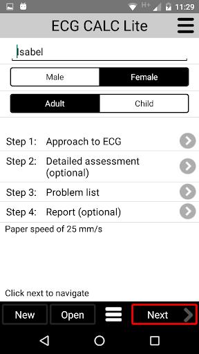 ECG CALC Lite screenshot for Android
