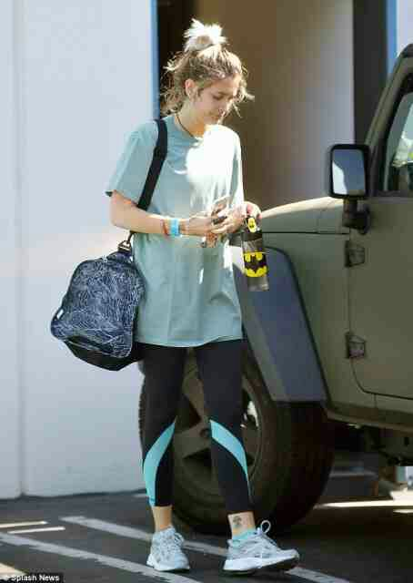 Paris Jackson hits the gym after a night out at the Roxy in Hollywood