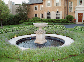 Exterior, Fountains, Tiered, Urn