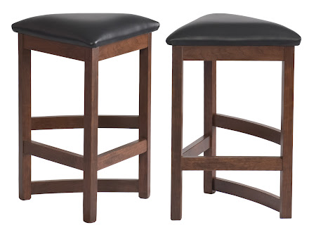 Barcelona Barstool with Leather Seats, in Chocolate Cherry