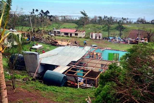This is what remains of some homes near Qelekuro in Tailevu, Fiji, after Tropical Cyclone Winston struck the island nation on 21 February 2016. Photo: Solomone Rabulu