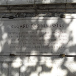 Regard des Maussins : plaque