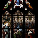 Collégiale Saint-Martin : vitrail sud (19e s.)