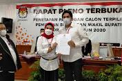 Nina-Lucky Ditetapkan Sebagai Bupati dan Wakil Bupati Terpilih Oleh KPU Indramayu