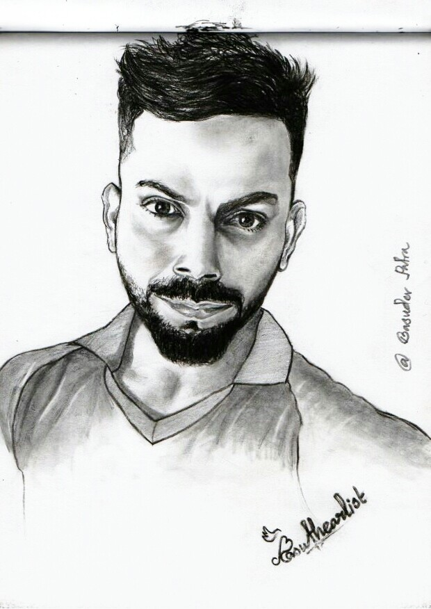 Virat kohli sketch drawing