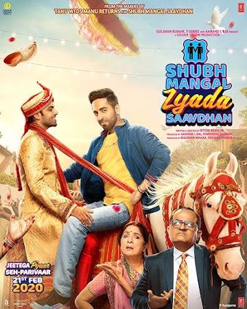 Poster Of Bollywood Movie Shubh Mangal Zyada Saavdhan 2020 300MB Pdvd Full Hindi Movie