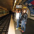 's Avonds met de metro terug naar het hotel