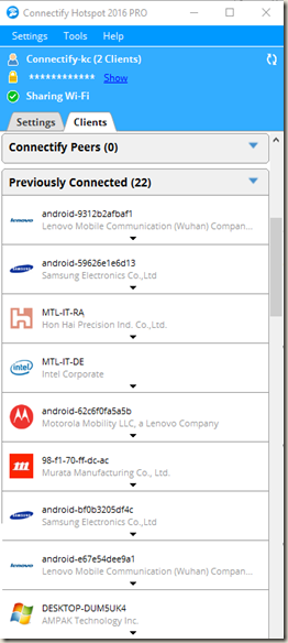 Windows Laptop as Virtual router – Connectify me