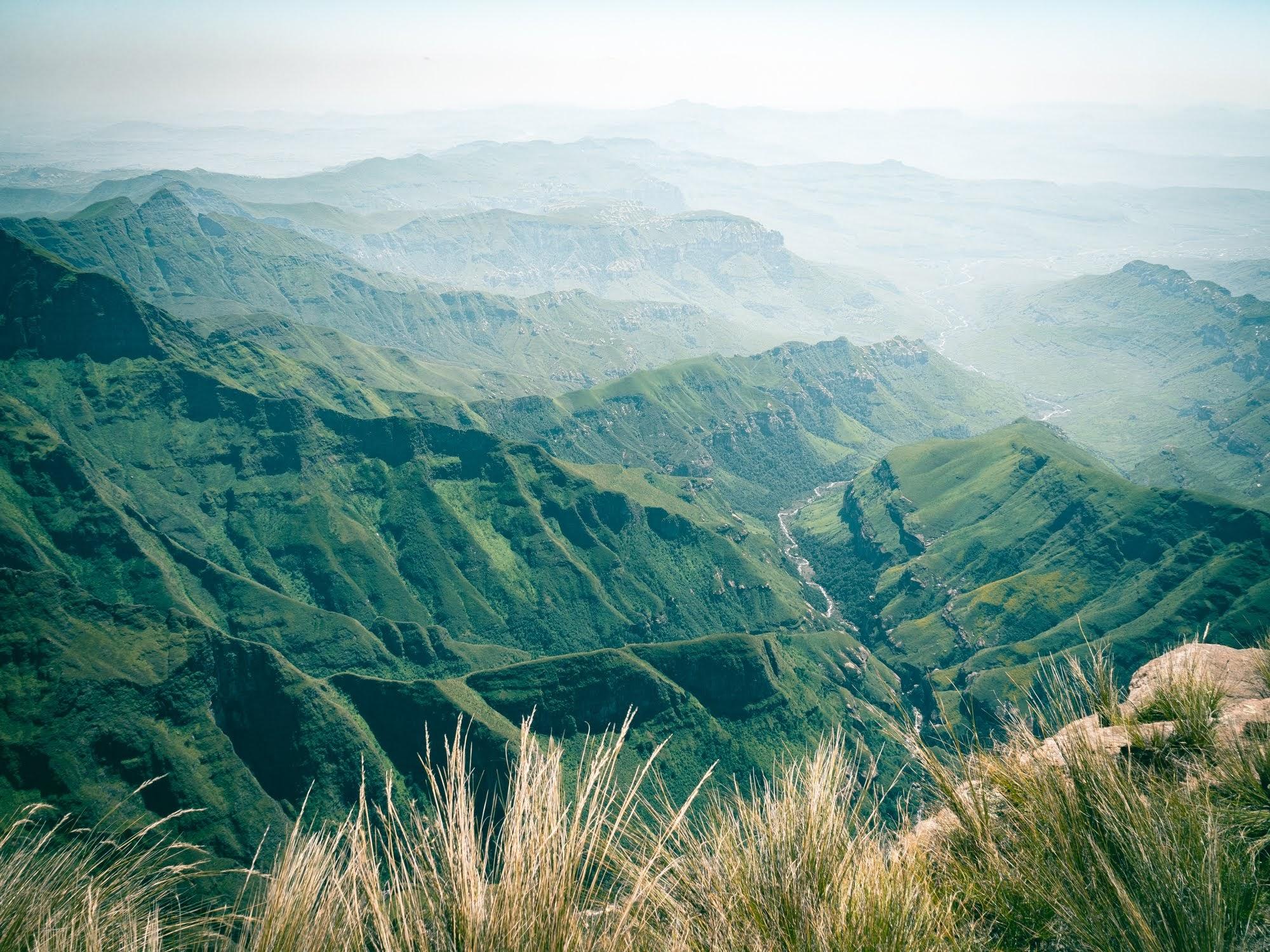 Beautiful Drakensberg mountain range
