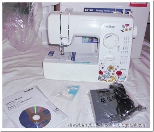 Just got a Brother JX2517 sewing machine.