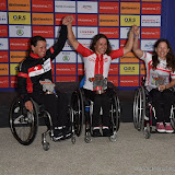 OIC - ENTSIMAGES.COM - Elite Hand Cyclist ladies winners Ms Sandra Graf,  Mrs Renata Kaluza and Miss Liz Mcternan at the Prudential RideLondon Grand Prix 2016    in London  29th July 2016 Photo Mobis Photos/OIC 0203 174 1069