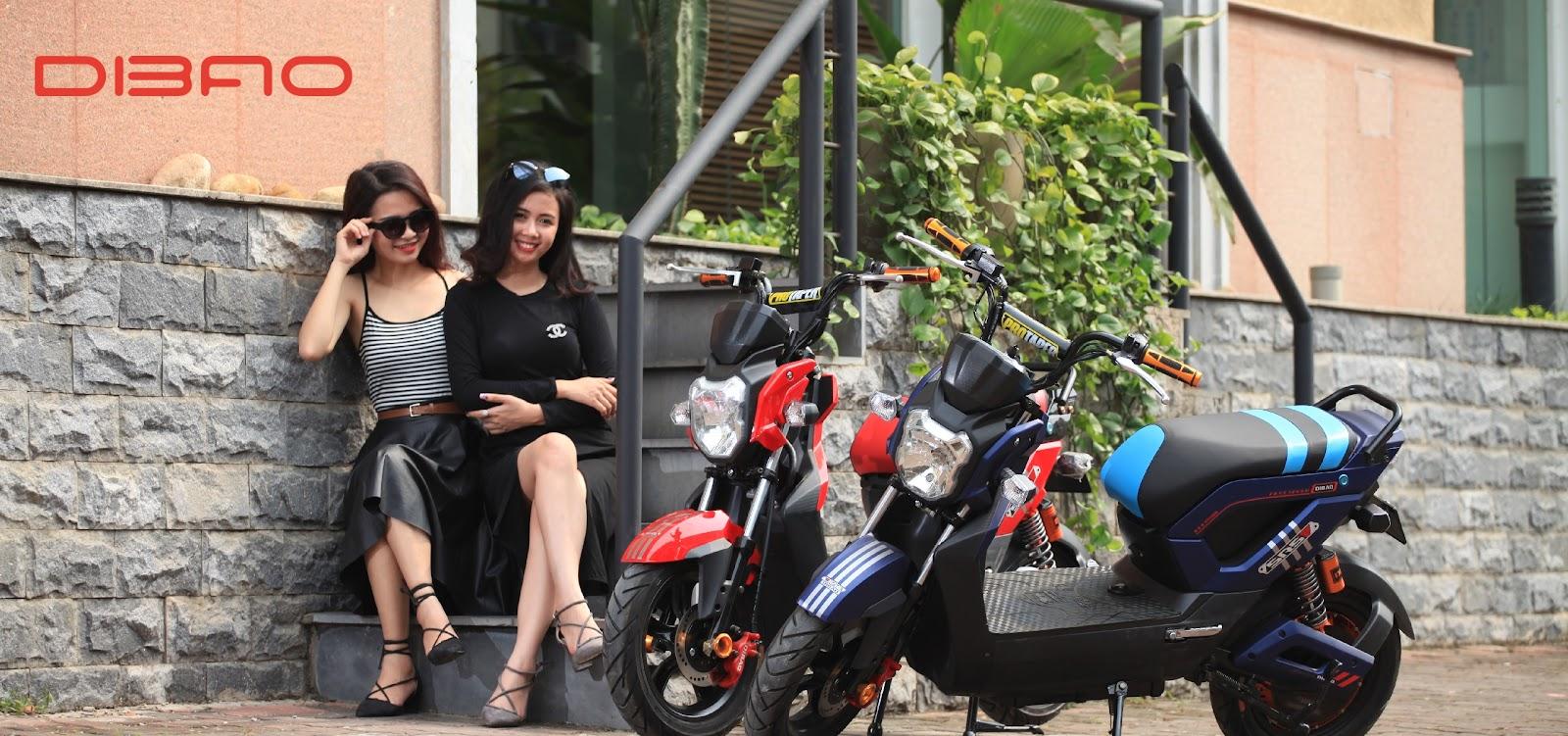 Xe máy điện Dibao Zoomer S có kích cỡ nhỏ gọn