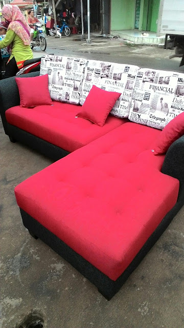 service sofa L shape di bekasi utara
