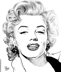 Ink drawing of Marilyn Monroe