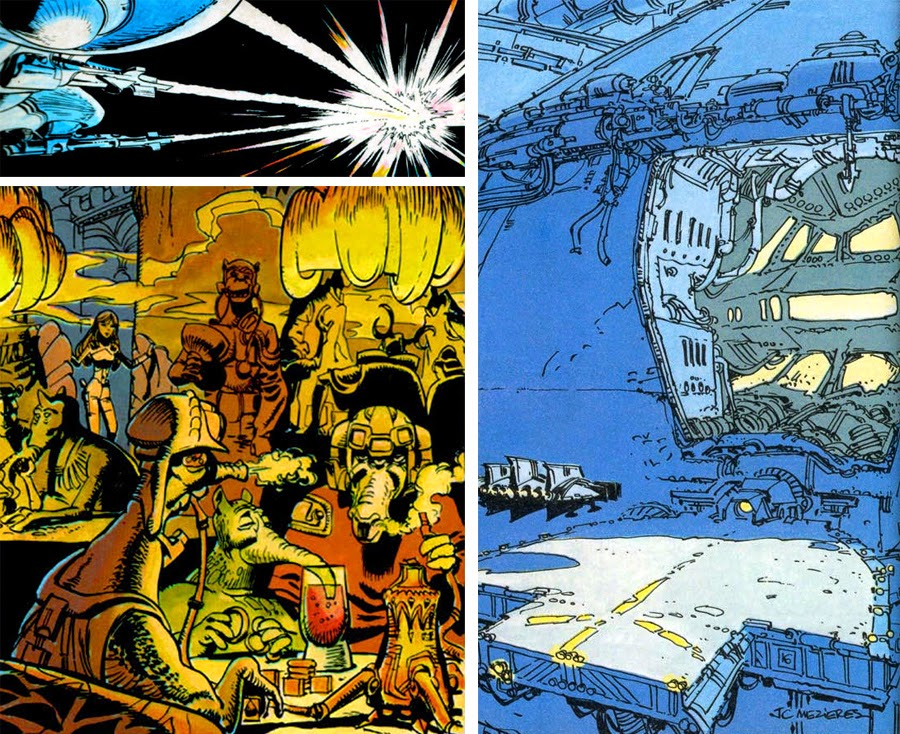 Dark Roasted Blend Epic 1970s French Space Comic Art