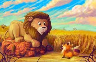 La zorra y la leona fabula de animales