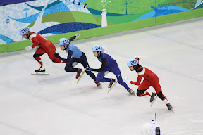 The start of the men's 500m final