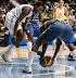Loose ball (WNBA:  Chicago Sky 83 vs. Minnesota Lynx 70, Allstate Arena, Rosemont, Illinois, September 11, 2012)