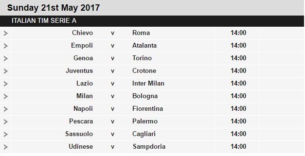 Serie%2BA%2Bschedule%2B37 Planning a Football Trip to Italy - SERIE A FIXTURES 2016/17