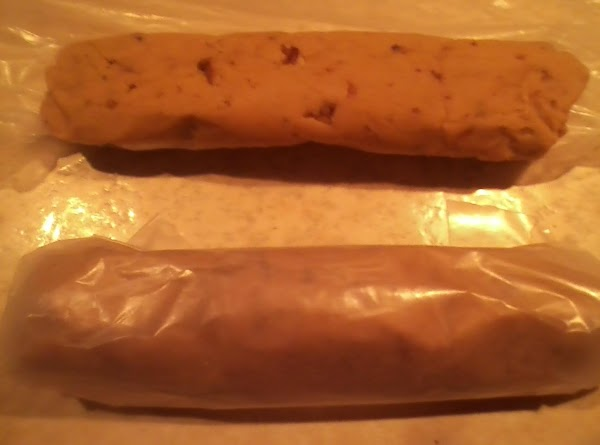 Roll into two rolls about 6-7 inches long and wrap in waxed paper and...