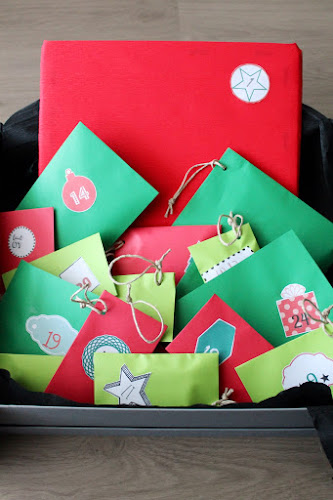 Not 2 late to craft: Compte enrera per Nadal -  calendari d'advent / Christmas countdow - advent calendar