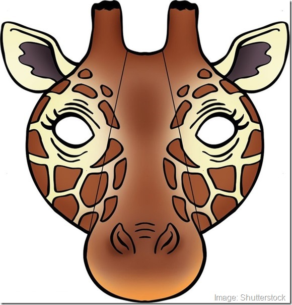 kids-face-masks-template-animals-giraffe