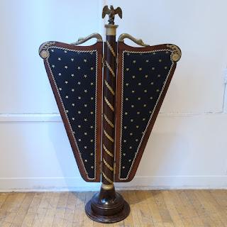 Mahogany & Brass Military Valet Stand