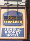 Admiral Rodney Hotel Sign Best Western yellow & blue