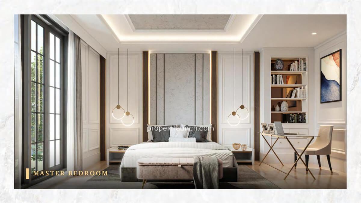 Master Bedroom Rumah Bukit Podomoro Jakarta Tipe 7 Art Deco