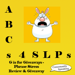 ABCs 4 SLPs: G is for Giveaways - Phrase Stress Review and Giveaway image
