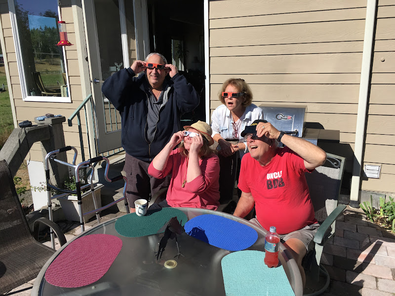 IMG_0901 - Barry, Evie, Francie and Bob pretending that the eclipse was amazing them