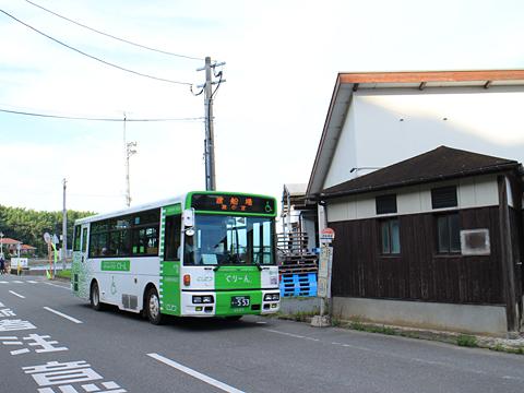 西日本鉄道 能古島内線「能古島ぐりーん」 5720 渡船場到着 その1