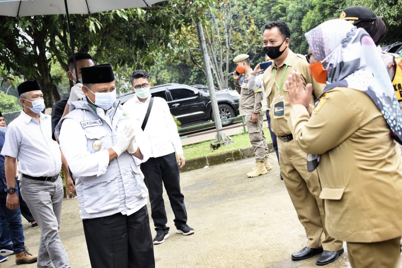 Uu Ruzhanul Tinjau Pelaksanaan Pilkades di Kabupaten Bogor