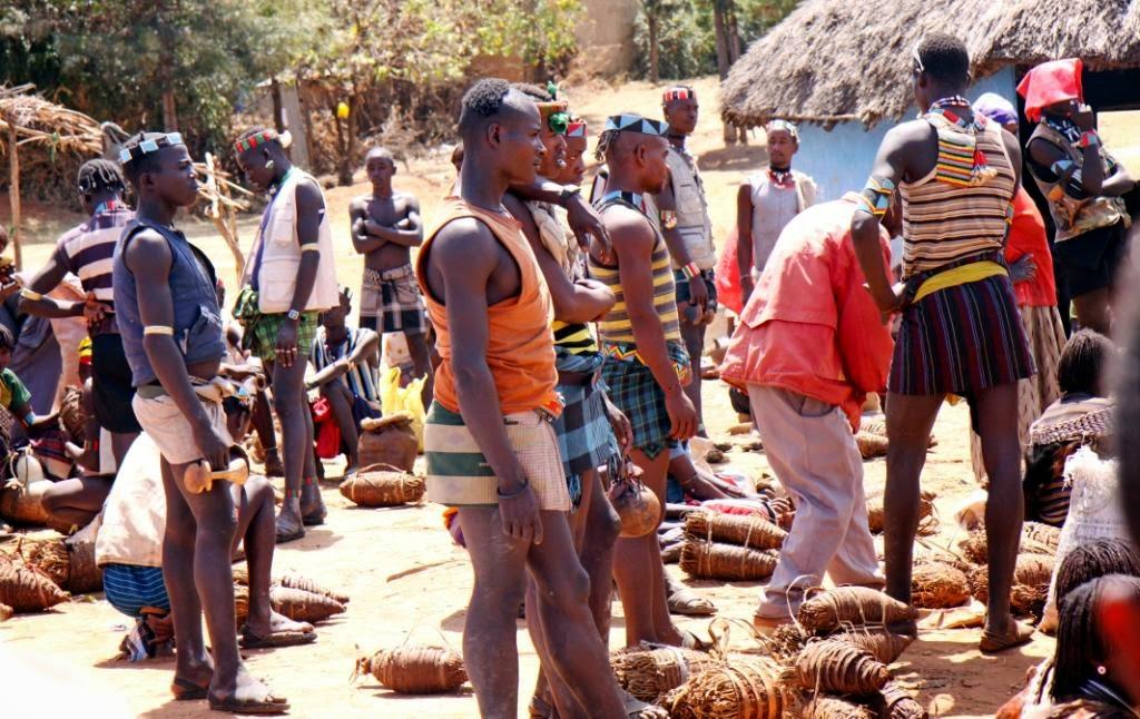 Genciu turgus Etiopijoje.