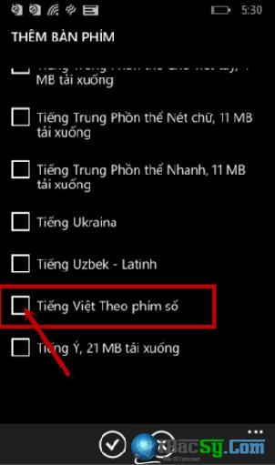 Hướng dẫn gõ Tiếng Việt cho Windows Phone + Hình 5