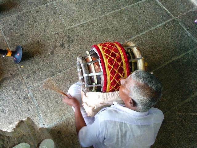 Thavil artisan at work