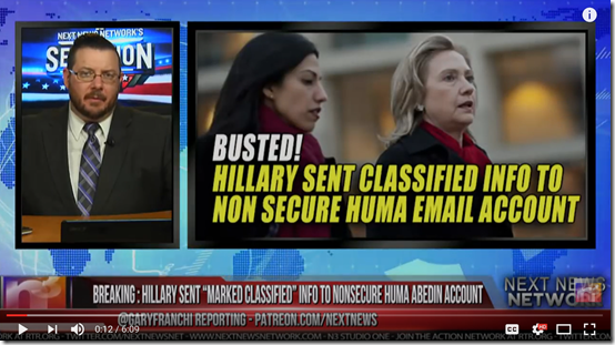 BREAKING HILLARY SENT MARKED CLASSIFIED INFO TO NONSECURE HUMA ABEDIN ACCOUNT