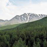 Les Monts Severo-Chuyskij (au nord d'Aktash) dans la chaîne du Kurai dans l'Altaï, près d'Aktash. 13 juillet 2010. Photo : J. Marquet
