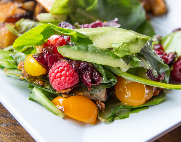 close-up photo of a mixed seasonal salad