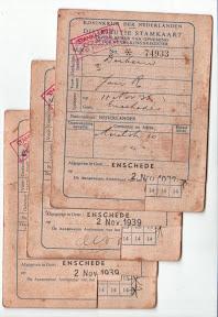 Eerste Distributiestamkaarten, Gemeente Enschede