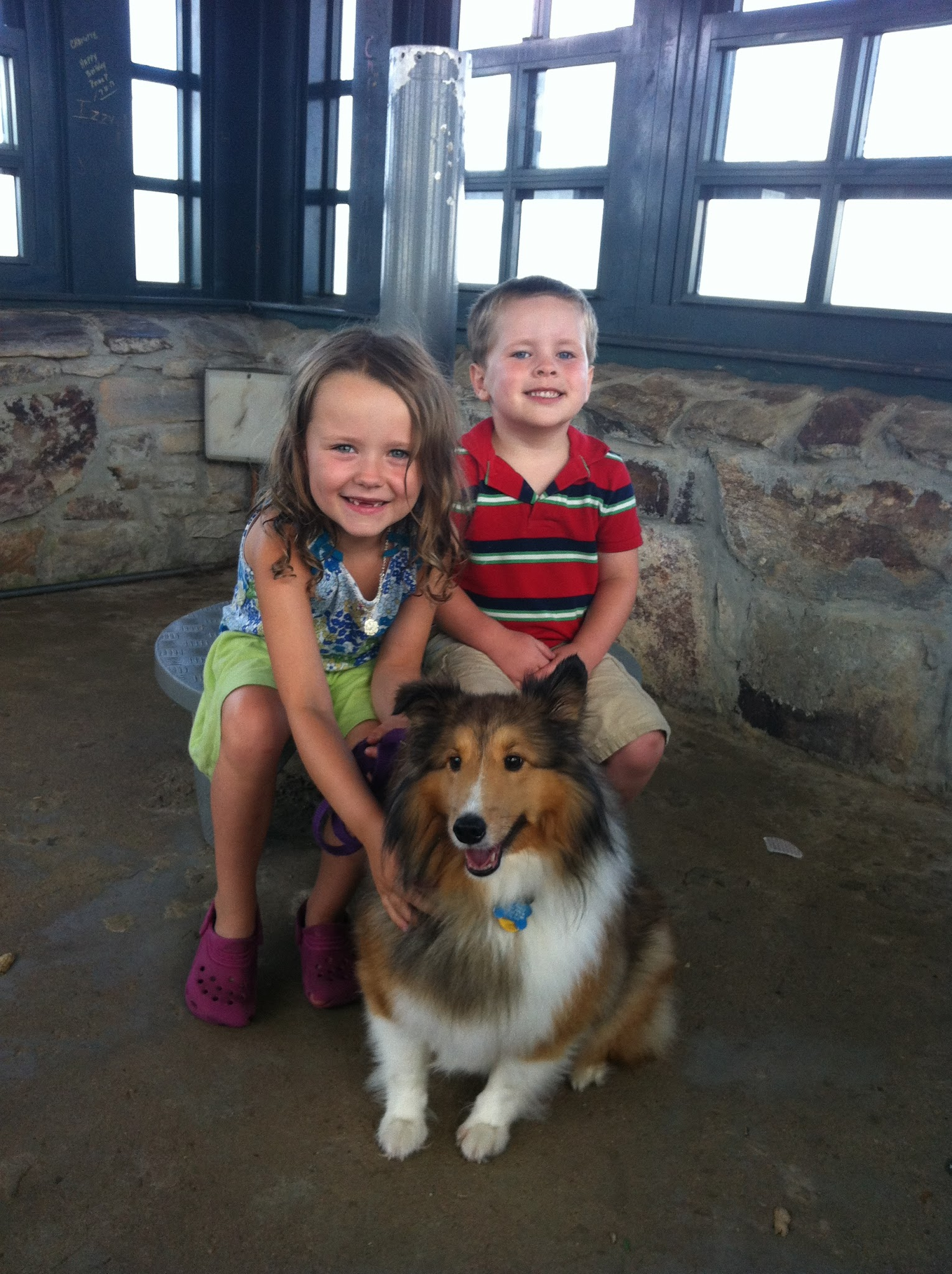 Kids and Sadie in the Tower