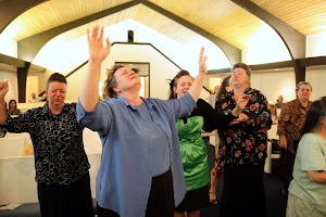 Pastor Sis. Teresa Kile basking in the presence of the Lord!
