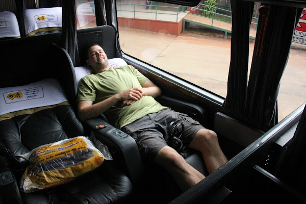 Settling in for the 20 hour bus journey from Puerto Iguazu to Buenos Aires