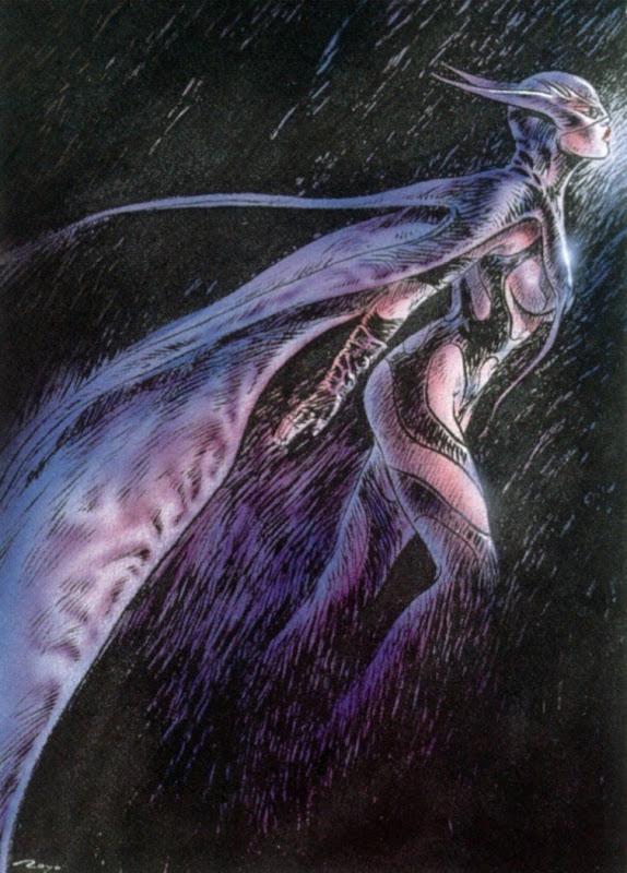 Bat Girl Futuristic Luis Royo, Warrior Girls 2