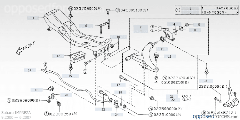 diagram of subaru engine subaru automotive wiring diagrams 2002 Subaru Wrx Engine Diagram scoobylab sub lower front suspension engine mount diagram diagram of subaru engine at e 2004 subaru wrx engine diagram