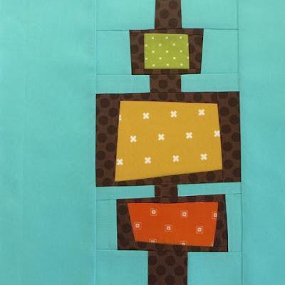 Mid Century Modern Quilt Block