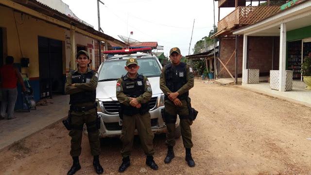 Policiais do CPR10 realizam operação de policiamento ostensivo e preventivo na região do garimpo Penedo