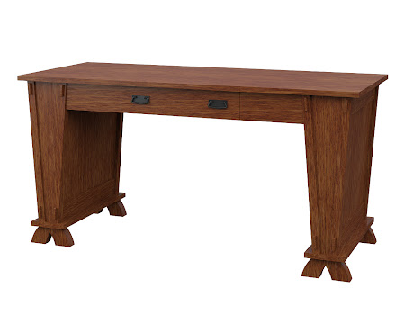 Baroque Writing Desk in Old_Master Quarter Sawn Oak