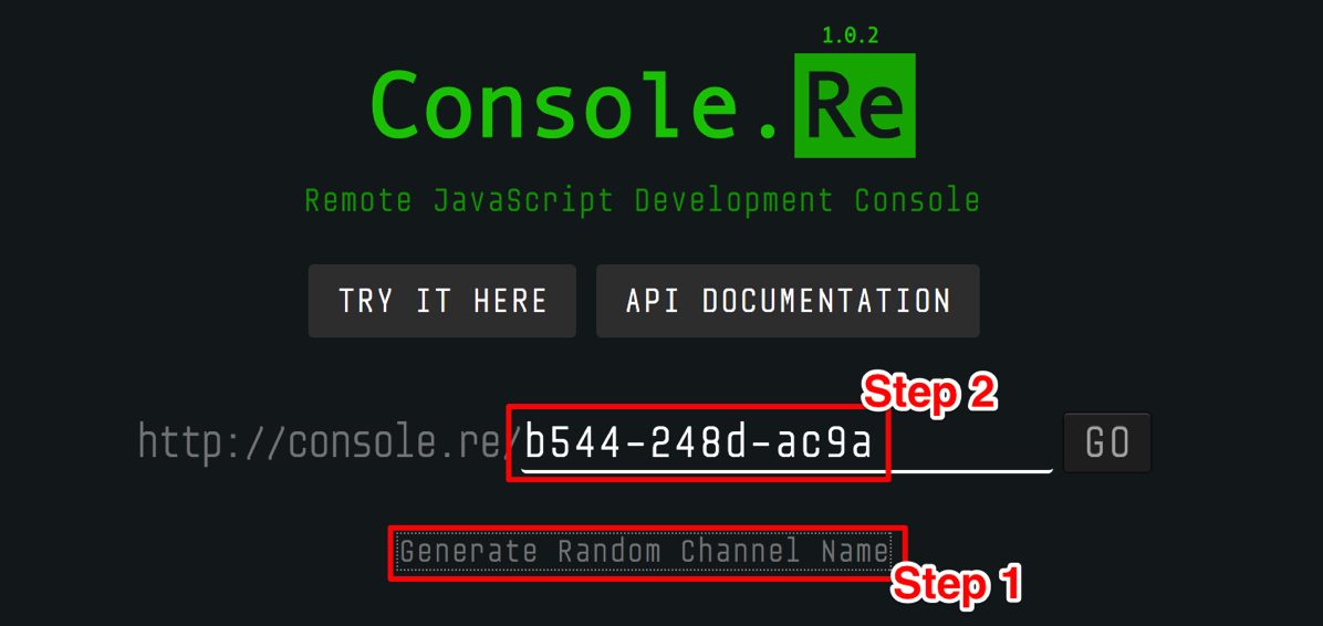 Console Re Remote JavaScript Development Console